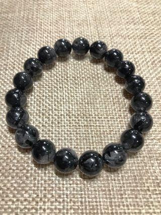 Black Rutilated Quartz黑发晶10mm Bracelet
