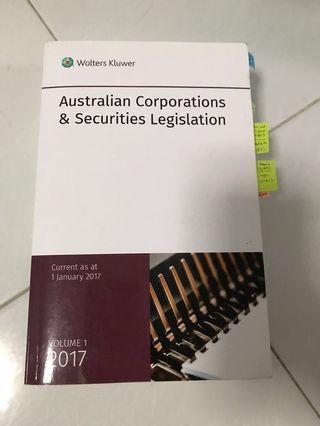 Australian corporations and securities legislation