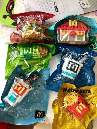 麥當勞 McDonald's nano block 一套六件