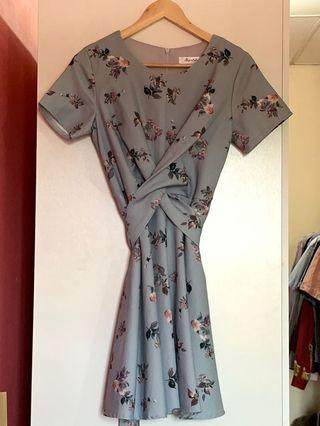 Powder Blue Floral Dress