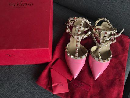 Valentino Classic Collection Rockstud Pump Pink Heels