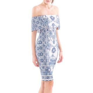 Porceline Off Shoulder Dress
