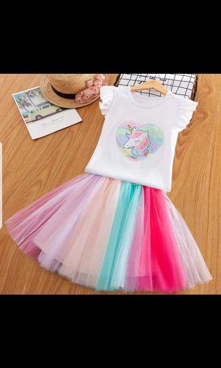 Costumes Girl Princess Dress Unicorn fluffy Dress