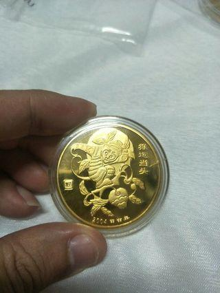 Gold coin by Tiger beer