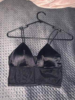 black bralette top