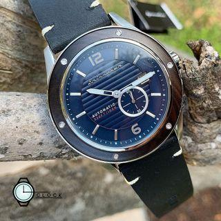 Spinnaker SP-5067-02 Wood With Blue Dial