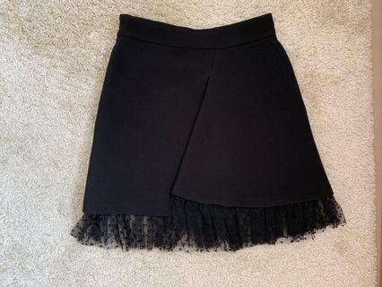 Sandro Black Lace Skirt