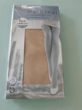 肉色絲襪  ( Ankle - High  100% support type ) x 5 pairs