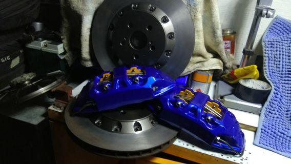 09 toyota wish 330 4pot brake kit