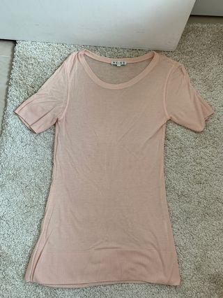 Reiss柔軟輕薄粉色上衣