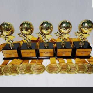 Customised trophies/medals/plaques