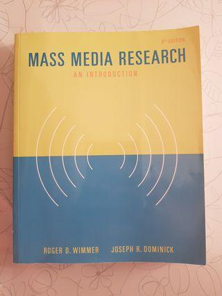 Mass Media Research 8th Edition