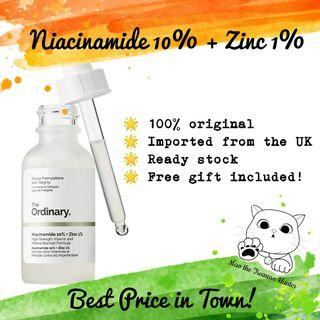 READY STOCK❤️ The Ordinary Niacinamide 10% + Zinc 1%