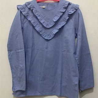 Mozline frill top blouse