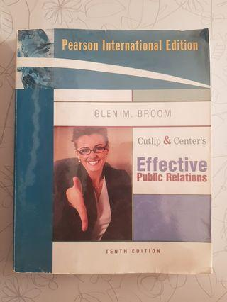 Cutlip & Center's Effective Public Relations 10th Edition