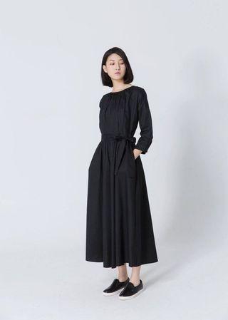 🚚 氣質縮腰大圓裙洋裝