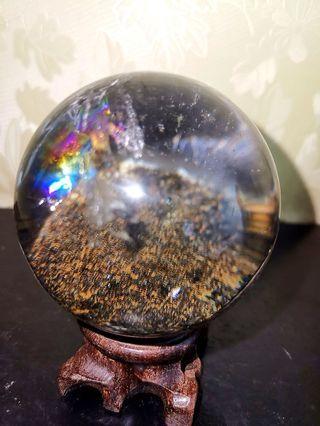 Natural Ghost Phantom Scenic Crystal Ball!  黑幽灵风景水晶球!珍藏品!