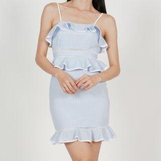 🚚 Blue Stripes Mini Dress