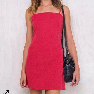 princess polly red tie back summer dress