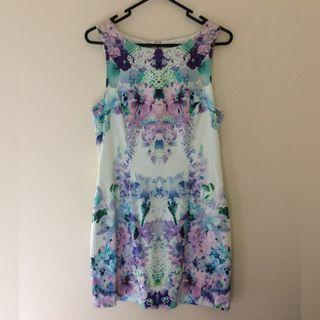 Cute Floral Straight Cut Dress