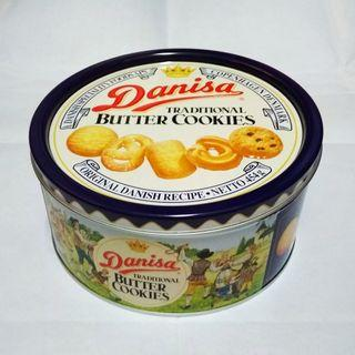 Danisa Butter Cookies Tin Container