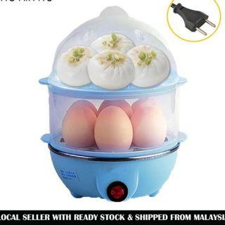 Double Layer Electric Egg Cooker Steamer Poacher Egg Boiler Cake