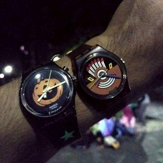 Vintage swatch 1986 & Swatch halloween ( jam only )