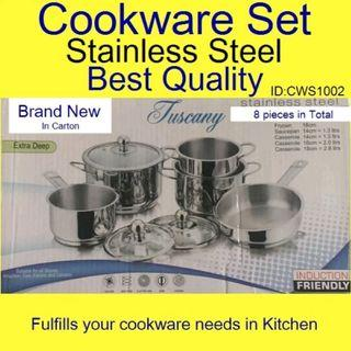 Cookware Set - Induction Base - Stainless Steel