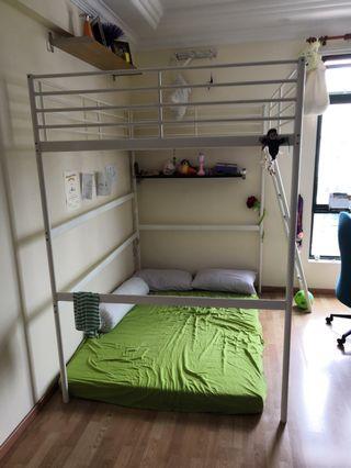 Ikea Tromso Loft Bunk Bed w/o mattress