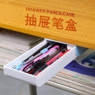 ✨ 2019 Drawer pencil case blue creative stationery stick under table