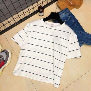 Striped White T- Shirt