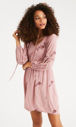 🚚 AEO split sleeve shift dress