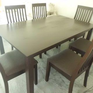 Sale! Solid Wood dining table 6 chairs $350 only!