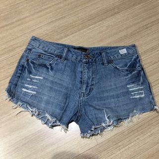 59. Denim Shorts Distress