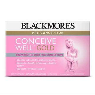 *BNIB Sealed* Blackmores Conceive Well Gold