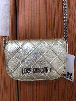 BNWT Love Moschino Gold Small Crossbody/Sling bag