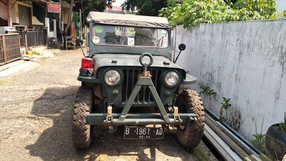 Jeep Willy's 1952 mesin ori. 75jt saja.
