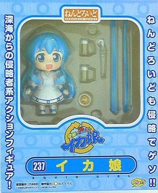 玩具出清 Goodsmile Company GSC Nendoroid 黏土人 237  Shinryaku! Ika Musume 烏賊娘 章魚娘