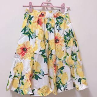 轉賣mihara 黃檸檬花 氣質裙
