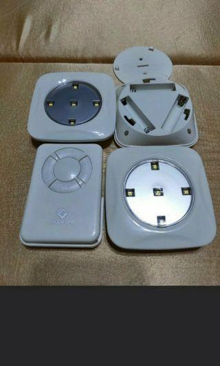 Wireless Remote Control LED Puck Lights.
