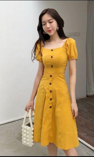 🚚 BN Yellow long Dress S size  #MRTCCK