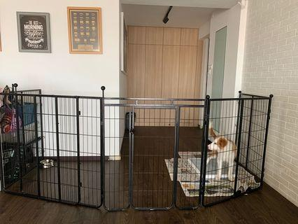 🚚 Beautiful Black Dog Fence ( only used for 1 month )