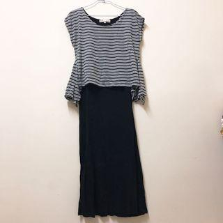 Pazzo條紋棉質洋裝 M號