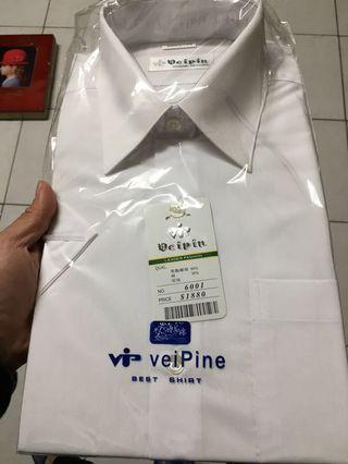 🚚 白襯衫 男 尺寸15 兩件。一長一短