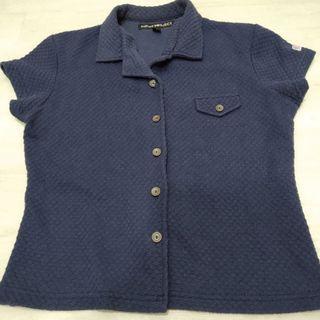 Deep Blue collar shirt