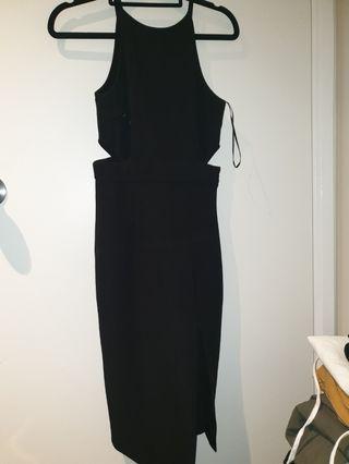 Black long sexy dress