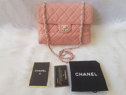 AUTHENTIC Chanel classic pink bag