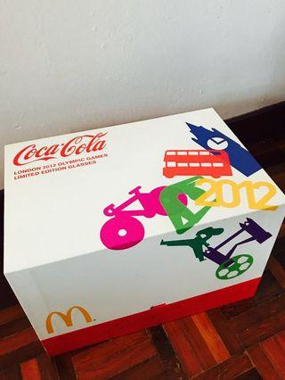 McDonald's x CocaCola London 2012 Olympic Games Limited Edition Glasses Set
