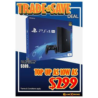TRADE IN UR OLD GEN CONSOLE FOR BRAND NEW PS4 PRO