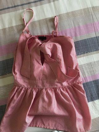 Tank top pink / baju pantai / baju summer / summer fashion / beachwear